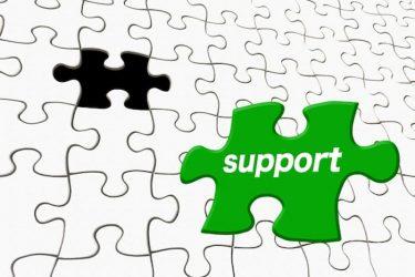 パズルのピースに書かれたサポートの文字